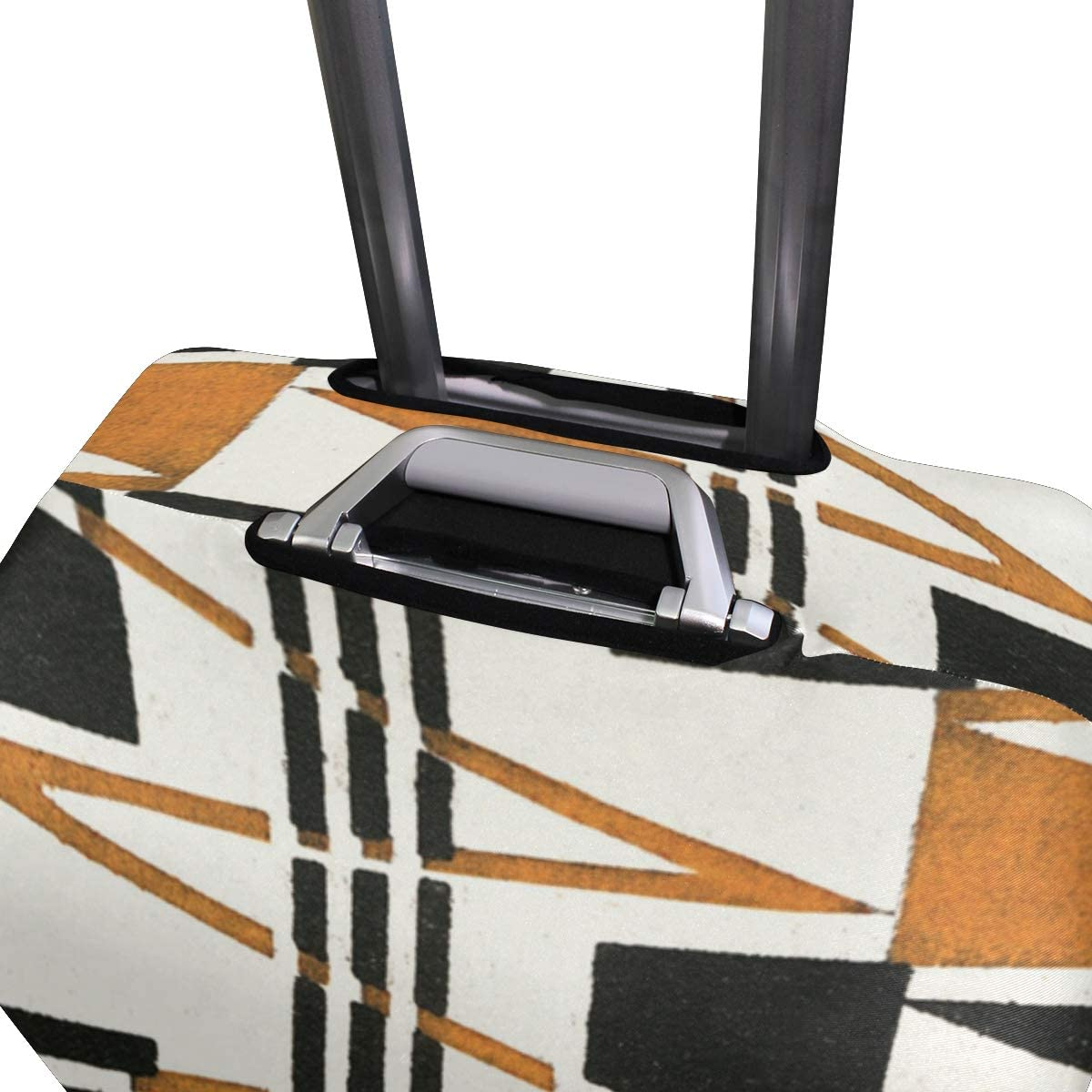 FOLPPLY The Geometric Print Luggage Cover Baggage Suitcase Travel Protector Fit for 18-32 Inch