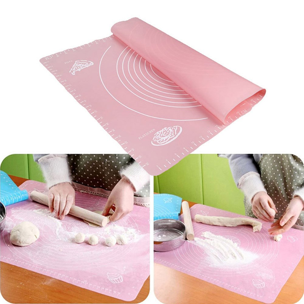 ♛Euone Silicone Rolling Fondant Mat ♛Clearance♛, Non-Stick Silicone Baking Cake Dough Fondant Rolling Kneading Mat Scale Table Grill Pad