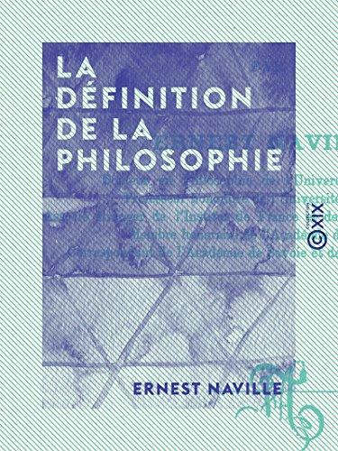 La Définition de la philosophie (French Edition) Kindle Edition
