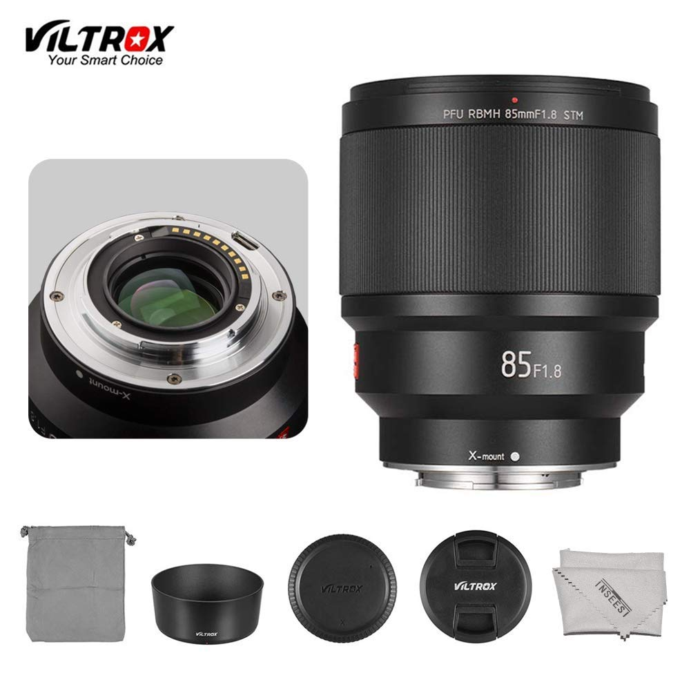 VILTROX PFU RBMH 85mm F1.8 AF Lens Portrait Fixed Focus Lens for Fuji FX Mount APS-C Frame for Fujifilm X-Mount X-H1 X-Pro2 X-T3 X-T2 X-T30 X-T20 X-E3 X-T100 X-A5 Camera by INSEESI