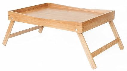 SB Trays Bandeja plegable de bambú: Apta para desayunar en la cama o como mesa