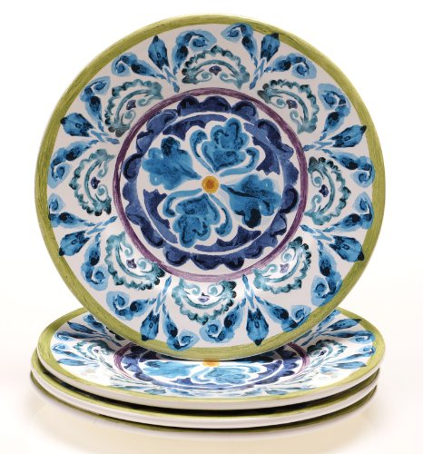 Certified International Mood Indigo Salad/Dessert Plate, 8.75-Inch, Set of ()