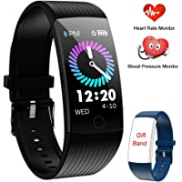 Fitness Tracker, Activity Tracker Smart Watch with Heart Rate Monitor, 1.14 Inch Color Screen Pedometer Watch Blood Pressure Monitor Sleep Monitor Fitness Watch,Step Counter Calories Burned Tracker, IP67 Waterproof