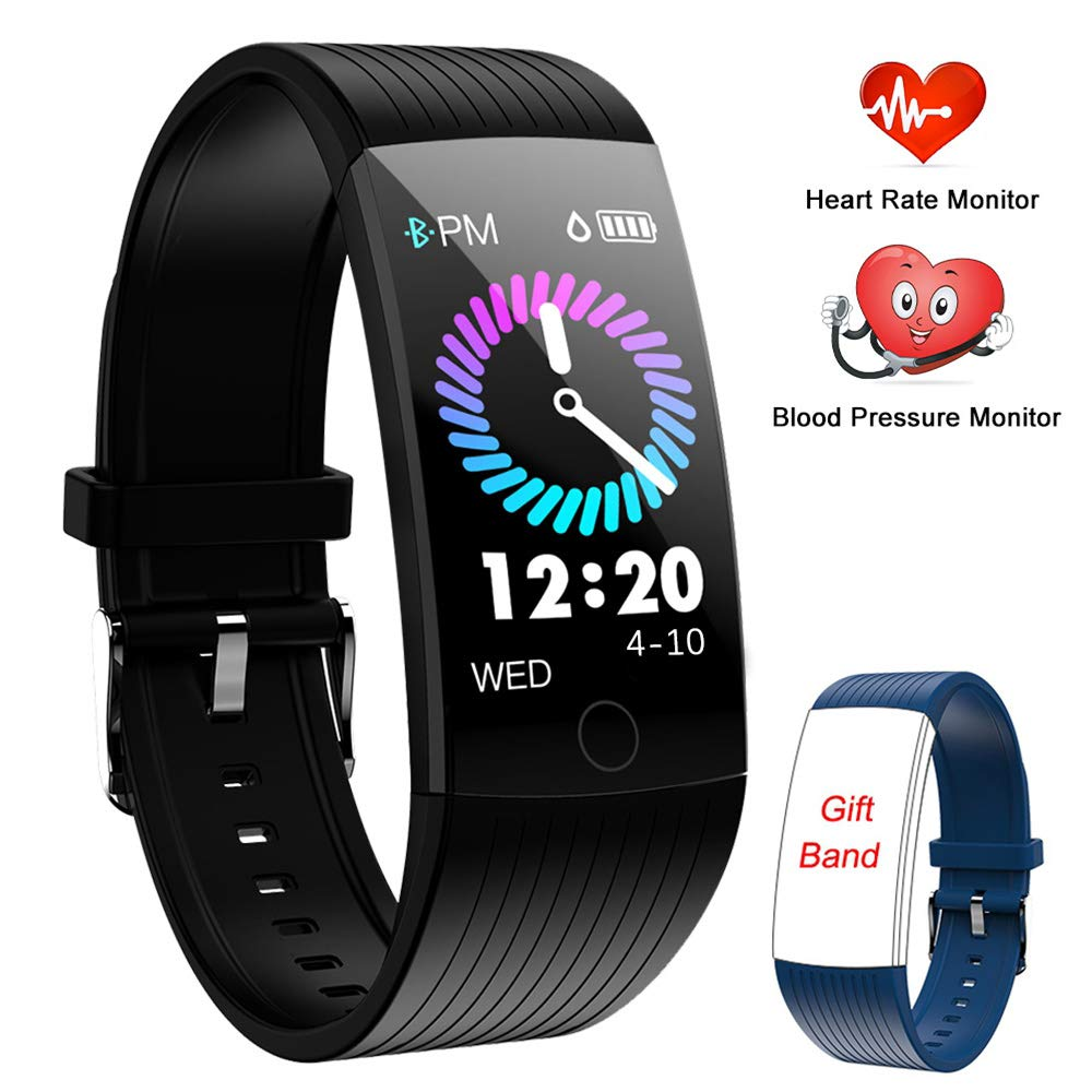 Fitness Tracker HR,Activity Tracker with Heart Rate Monitor,1.14 Color Screen Smart Watch Pedometer Watch Blood Pressure Monitor Sleep Monitor Fitness Watch,Calories Tracker IP67