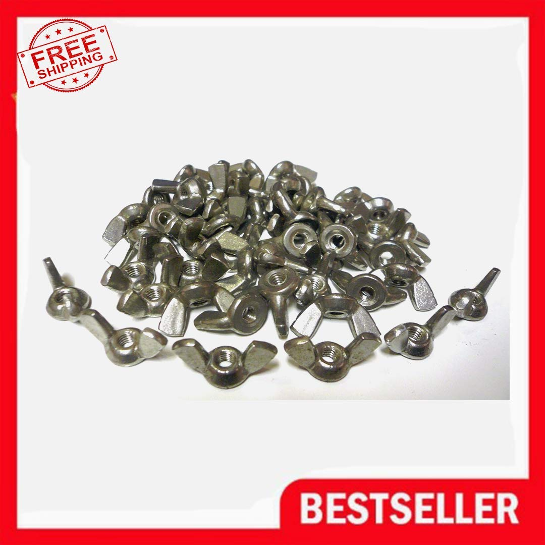 Lot of 50 Stainless Steel Wing Nuts 1/4-20 Thread New