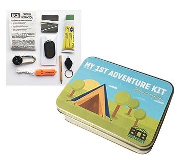 0719edbc72b Bushcraft Kid's My First Adventure Kit, Bronze, 12 x 8.5 x 3.5 cm ...