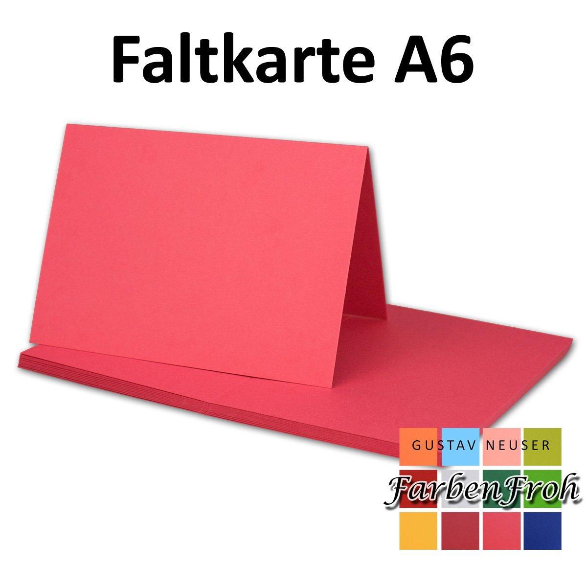 250x Falt-Karten DIN A6 Blanko Blanko Blanko Doppel-Karten in Hochweiß Kristallweiß -10,5 x 14,8 cm   Premium Qualität   FarbenFroh® B079X2CW7W | Überlegen  eded5f