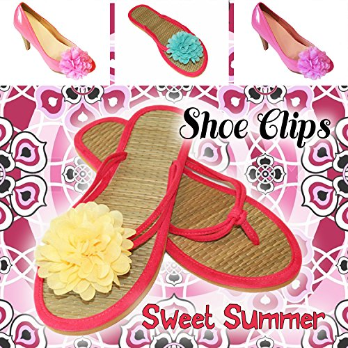 La Loria Damen 2 Schuhclips Sweet Summer in Grün Accessoire zum Schuhe verschönern