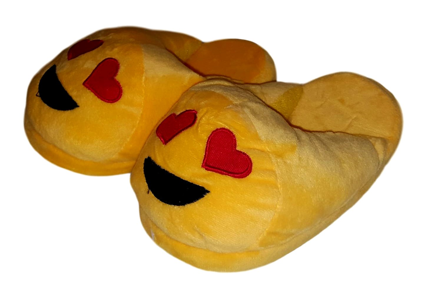 Adult Sized Emoji Plush Slipper (Medium (7-8), in Love)