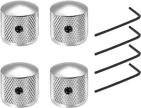 4pcs Metal Electric Bass Guitar Volume Tone Control Knobs Dome Knobs W T DD