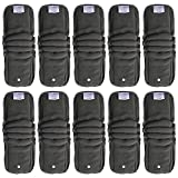 cloth diaper inserts fuzzi bunz - EcoAble Baby Charcoal Bamboo Snap-in Inserts with Anti-Leak Gussets for Ai2 Cloth Diapers & Covers (10-pack)