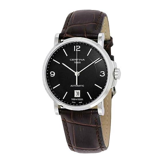 Certina 0 - Reloj de automático para hombre, con correa de cuero, color marrón: Amazon.es: Relojes