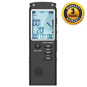 Gelernt 16g Diktiergerät Lcd Screen Digital Recorder Wiederaufladbare Vorträge Stimme Aktiviert Mp3 Player Interviews Noise Reduktion Audio Unterhaltungselektronik Digital Voice Recorder