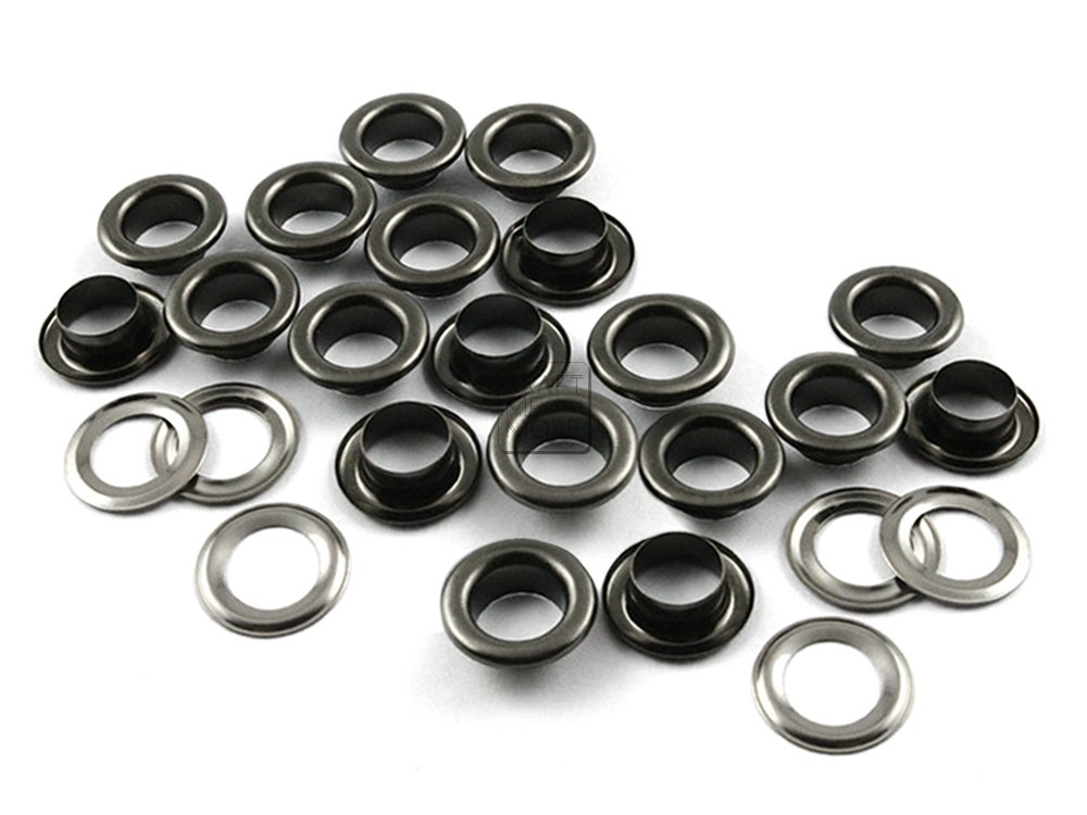 Canvas Hole Size 300 Sets Metal Grommets Eyelets with Washers for Bead Cores 300 Sets, Gunmetal 5MM CRAFTMEmore 3//16 Clothes Leather