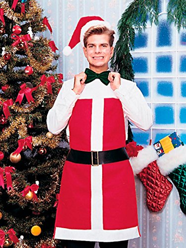 Rubie's Santa Apron and Hat, Red/White, One Size]()