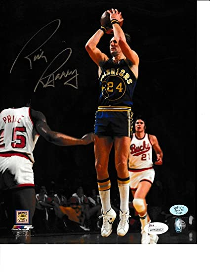 037fcfa45a36 Image Unavailable. Image not available for. Color  Rick Barry Autographed  (Jump Shot) 8x10 Photo Golden State Warriors JSA Authenticated