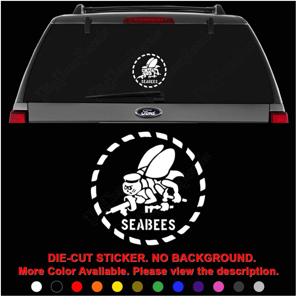 Seabees Automobile Window Cling Custom Sticker