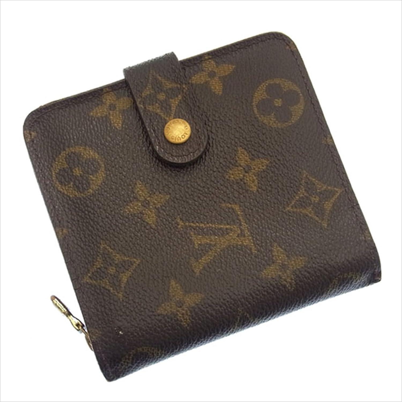 ルイヴィトン Louis Vuitton 二つ折り財布 ラウンドファスナー ユニセックス コンパクトジップ M61667 モノグラム 中古 F329 B019RKRE4S