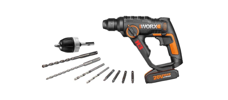 Martello perforatore a batteria Worx WX390 20 V in offerta