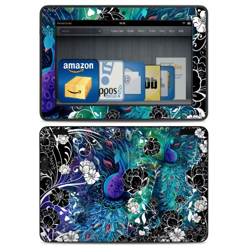 peacock-garden-design-protective-decal-skin-sticker-matte-satin-coating-for-amazon-kindle-fire-hdx-7