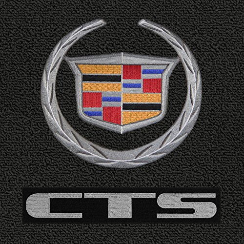 Lloyd Mats - Classic Loop Ebony Front Floor Mats For CTS Sedan AWD with Silver Cadillac Logo and CTS (Cadillac Cts Awd)