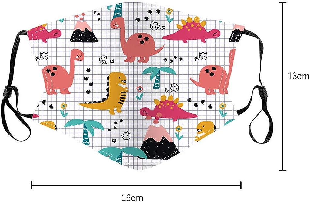 Lustig 5 St/ück Cartoon Druck Baumwolle Bunt Komisch Kopftuch f/ür Outdoor-Aktivit/äten Kinder Mundschutz Wiederverwendbar Waschbar