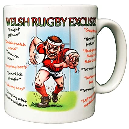 Makes An Rugby Gift Excuses Coffee Welsh – Mug Ideal Funny Ceramic CeoQrWdxB