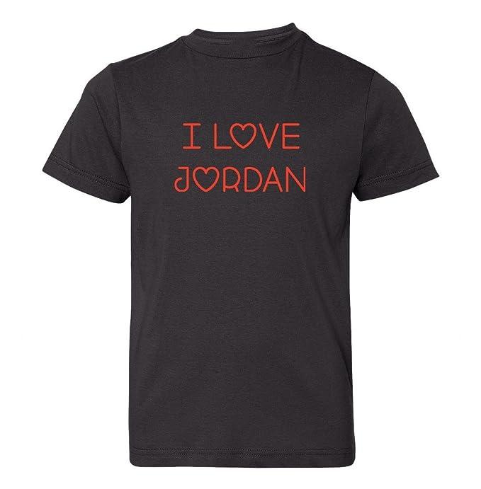 9b4dc510e64a Amazon.com  Mashed Clothing Big Boys  I Love Jordan Kids T-Shirt ...