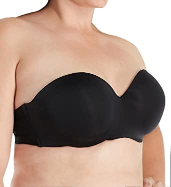 5e2bdd432620f Ashley Graham Phenomenon Strappy Convertible Strapless Bra (760457)  34DD Black