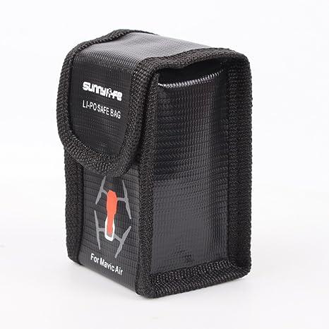 Flycoo Bolsa de batería para DJI Mavic Air Bolso ignífugo de la bolsa de la protección de la batería de la fibra de vidrio del Lipo de la fibra de ...