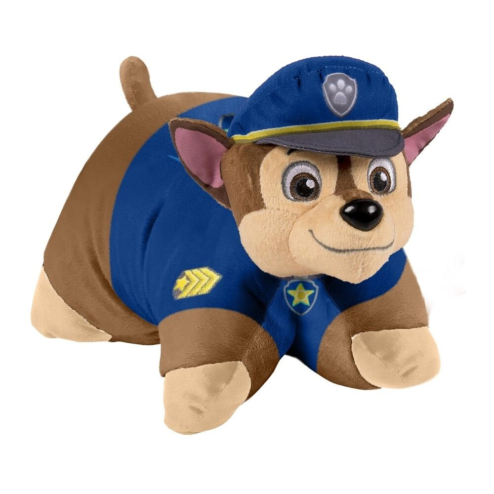 Pillow Pets Nickelodeon Paw Patrol, Chase Police Dog, 16'' Stuffed Animal Plush Toy by Pillow Pets (Image #1)