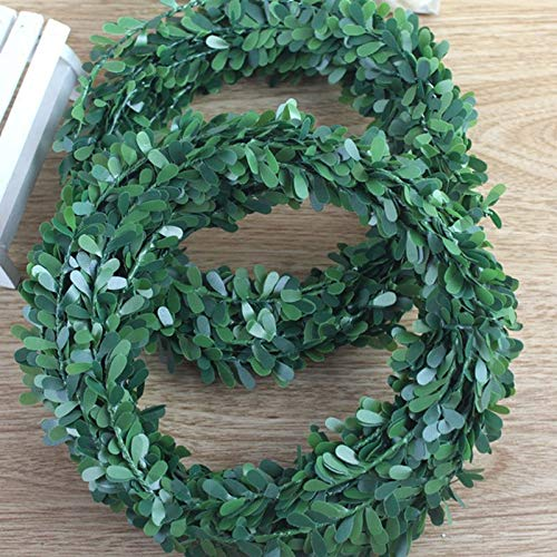 Price comparison product image Artificial Plants - 7.5m Artificial Ivy Garland Foliage Green Leaves Simulated Vine Ceremony Diy Headbands - Pots Rustic White Arrangements Room Living Reptiles Lemon Topiary Clearance Bathro