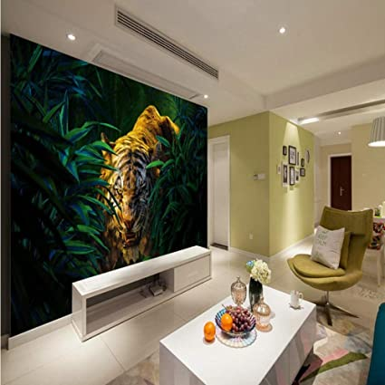 amazon com amazhen custom 3d wallpaper jungle tiger paintingamazon com amazhen custom 3d wallpaper jungle tiger painting background wall living room wallpaper custom studio office mural,200cm140cm home \u0026 kitchen