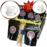 3dRose PS Inspiration - Image of Gold Eyes Are Windows to Soul Quote - Coffee Gift Baskets - Coffee Gift Basket (cgb_280728_1)