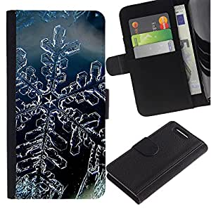Planetar® Modelo colorido cuero carpeta tirón caso cubierta piel Holster Funda protección Para Sony Sony Xperia Z1 Compact / Z1 Mini (Not Z1) / Z1 Mini (Not Z1) ( Cristal de la nieve del invierno del copo de hielo )