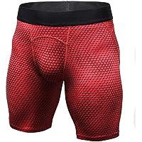 "LANBAOSI 6"" Underwear Training Shorts Compression Baselayer Fitness Tight X-Small Red"