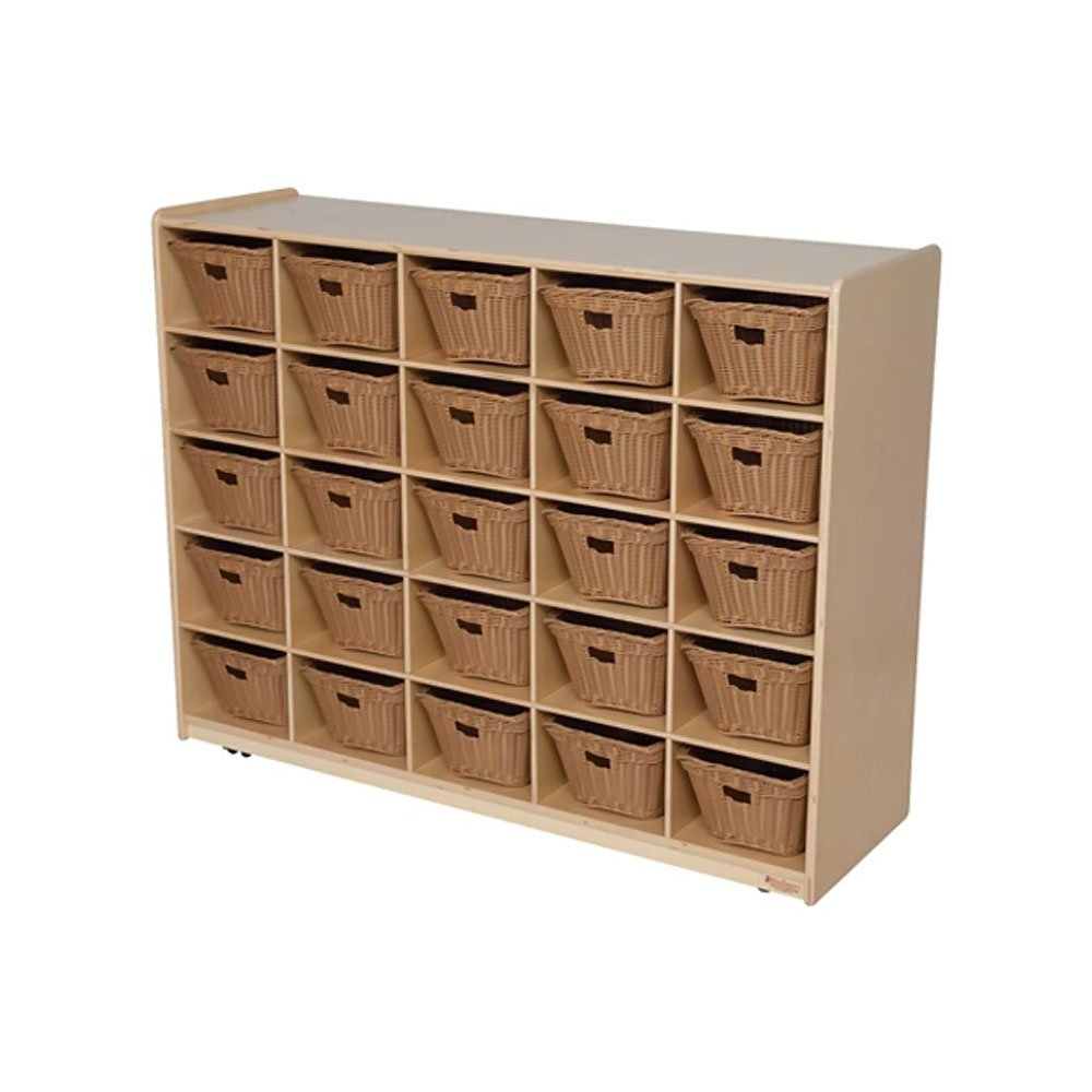 Natural Environment 25 Compartment Cubby Bin Color: Basket