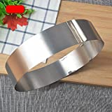 Silver Stainless Steel Round Adjustable Cake Mould Circular Cookie Mousse Ring Mold Pastry Baking Tools
