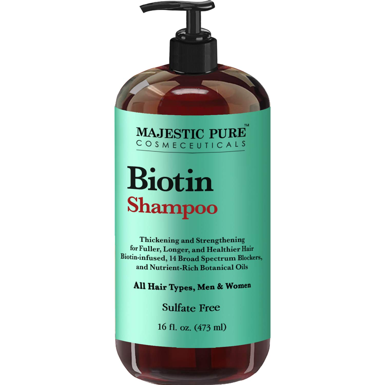 Amazoncom Majestic Pure Biotin Hair Shampoo Hair Loss Shampoo