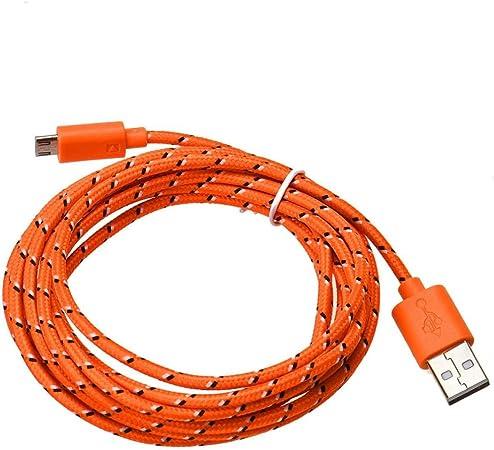 Extra Largo Micro Usb Plomo Sync carga Cable De Datos Cargador Para Samsung Htc Sony