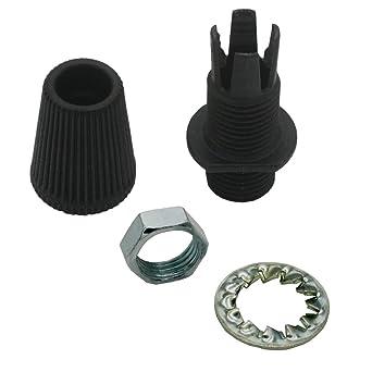 Farbe schwarz Metallmutter M10x1 Kabelzugentlastung mit Verschraubung 5 Stück