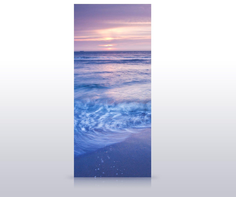Türtapete Strand Sonnenuntergang Tapete Tür Türaufkleber Türbild Aufkleber