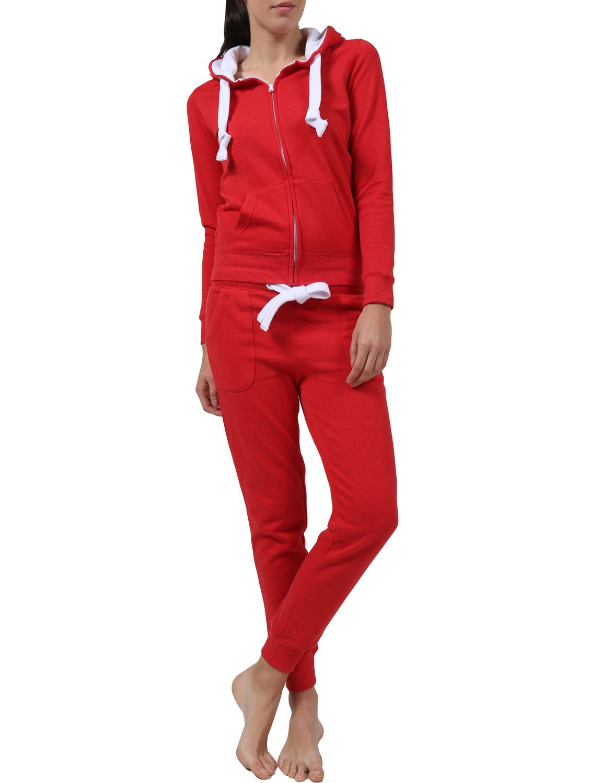 Ne People パーカースウェットパンツセット レディース カジュアル ベーシックベロア テリージップアップ S-3XL B01C3ISFRQ M Newts07-red Newts07-red M
