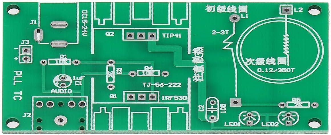 Cheng L 15W DC 15-24V 2A Kit de Altavoces electrónicos de plasmaDIY Mini Tesla Módulo de Bobina sin ensamblar componentes