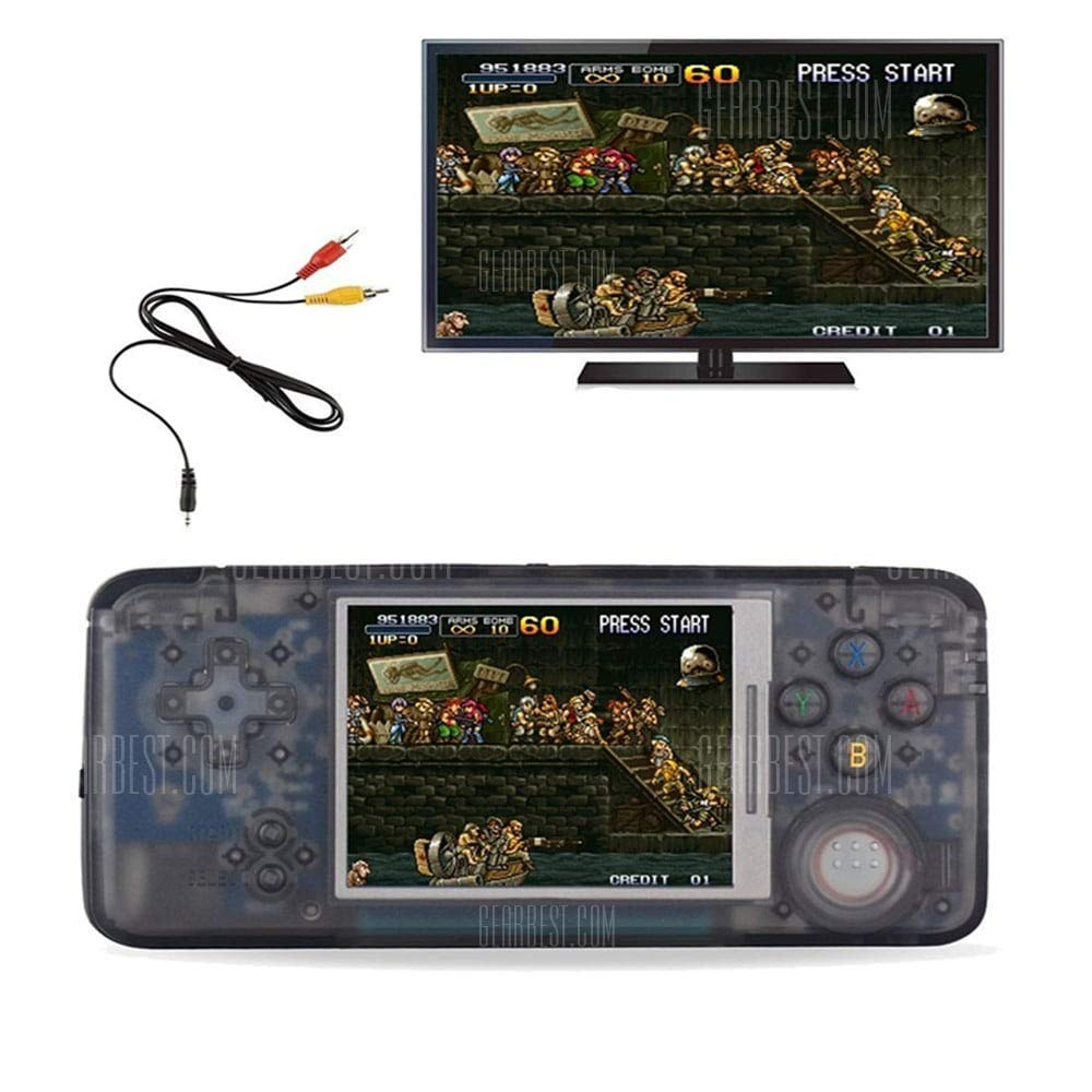 FLYFISH Handheld Game Console , Retro Game Console 16GB 3000 Classic Game Console , 3 Inch HD Screen TV Output Portable Video Game Console , Birthday Gift for Children - Transparent Black by FLYFISH (Image #5)