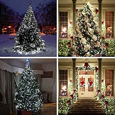 Lumitify 2 Pack Outdoor Solar String Lights, 72ft 200 LED Fairy Solar Lights Decorative for Christmas, Home, Lawn, Patio, Garden, Wedding, Party and Holiday Decorations(White)