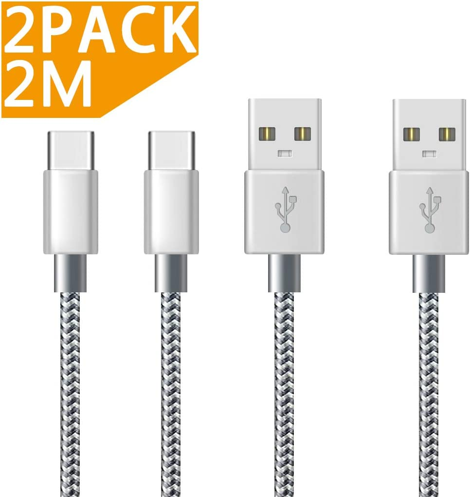 Moto G6 USB C Nylon Braided Fast Charging Charger Cable for Samsung Galaxy S10//S9//S8 Sony Xperia XZ Huawei P20//Mate20 2Pack 0.5M USB Type C Cable AVIWIS Honor 10,OnePlus 6T