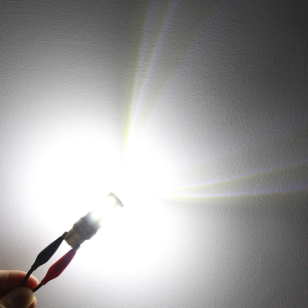 Alla Lighting 2800lm Red 3156 3157 LED Strobe Flashing Brake Light Xtreme Super Bright T25 3133 3157 LED Bulbs High Power 5730 33-SMD LED 3157 Bulb 3057 3457 4157 4057 LED Signal Brake Stop Tail Light