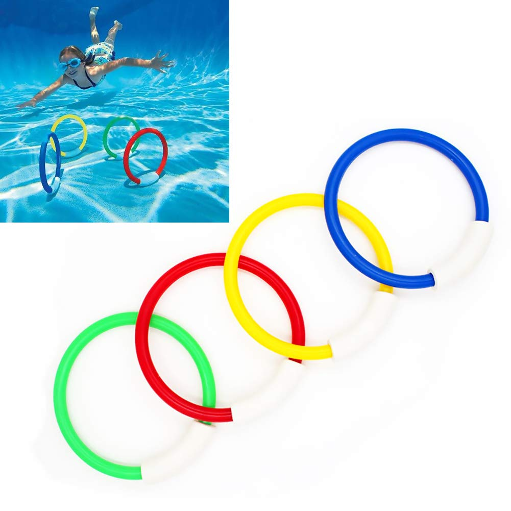 TrifyCore Spielen Tauchen Ring Durable Swim Dive spielt Bunte Pool Ring Spielzeug Tauchen Sticks f/ür Kinder Tauchen 4 PCS