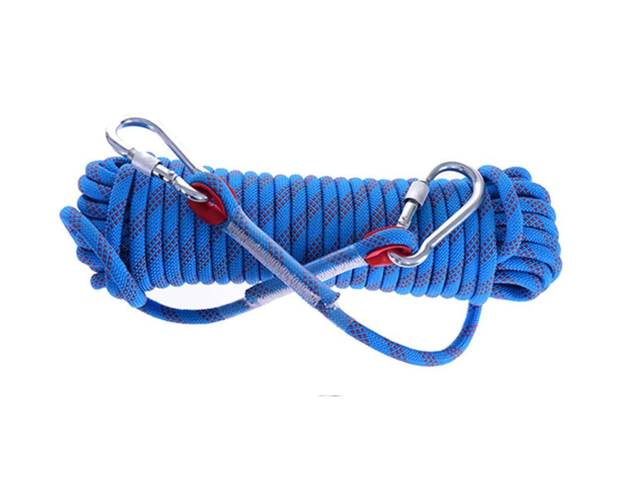 Bleu ZAIYI Escalade Extérieure De Haute Altitude, Camping, Corde De Sécurité, Antidérapante Et Résistante à l'usure, 10 12 14 Mm,bleu-14mm30m 14mm10m